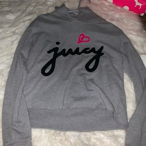 Cropped juicy couture sweater (hooded)